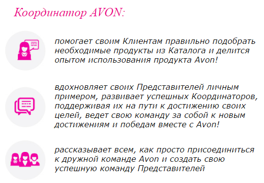 координатор эйвон